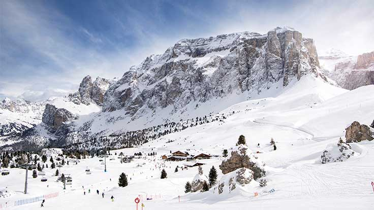Ski area Passo Sella in Val Gardena